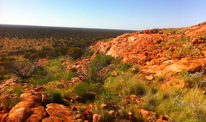 Yarrabubba crater in Western Australia
