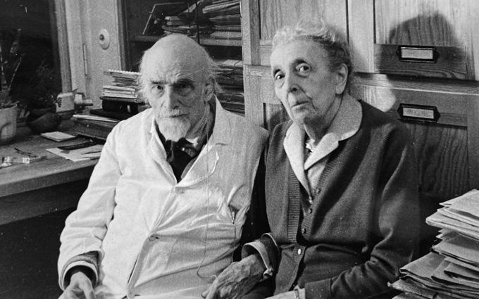black and white image of Oskar and Cécile Vogt