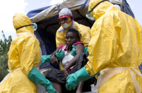 ebola patient and health workers