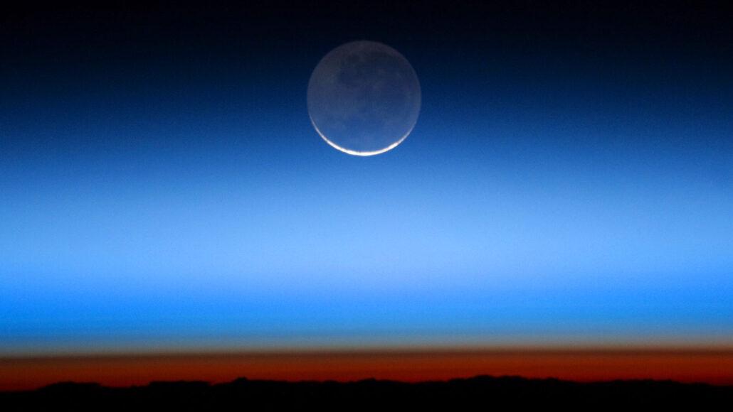 image of earthshine